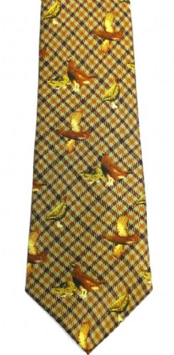 Bisley Silk Tie - Brown Grouse (JR-BIT23)